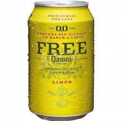 Cervesa Free Damm Lemon (lata) (Pack 24 Uds.)