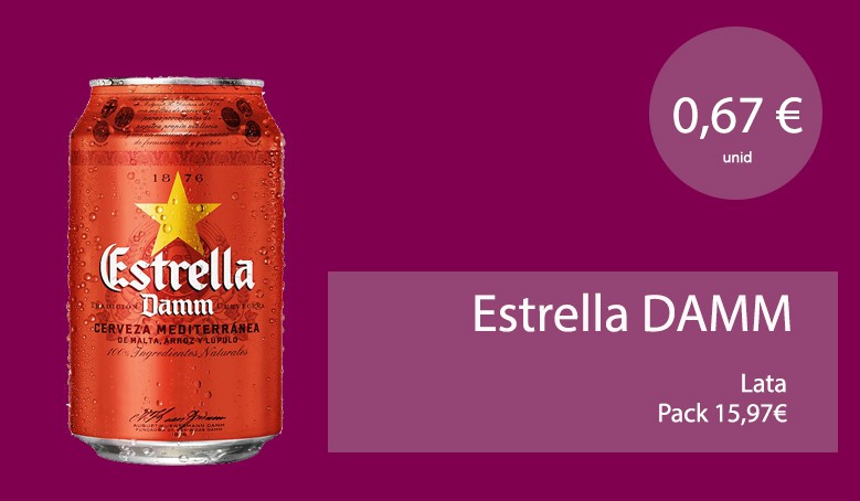 Estrella Damm lata